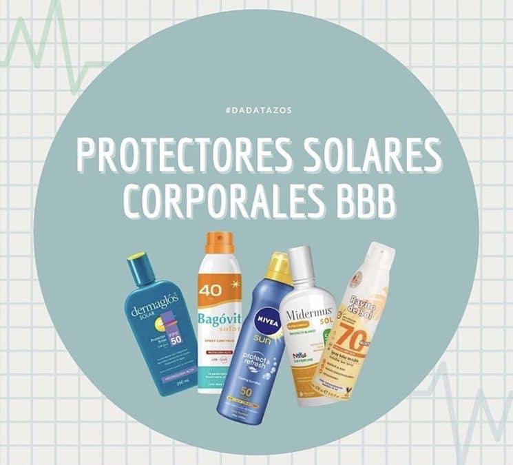Protectores Solares Corporales BBB – Diferentes opciones excelentes y económicas.