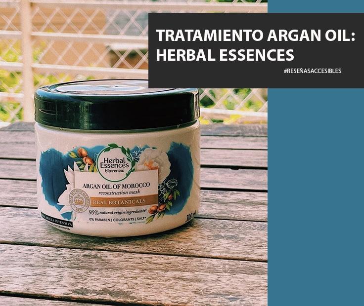 Tratamiento Argan Oil de Herbal Essences – Una crema para el pelo que me encantó.